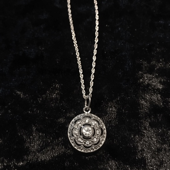 Antique Jewelry - Antique Sterling Silver Sparkle Necklace